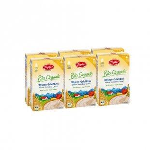 Töpfer Bio Weizengrieß-Brei mit Apfel und Banane 6 x 175 g