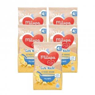 milupa Milchbrei Gute Nacht Getreide mit Banane 5 x 400 g ab dem 4. Monat