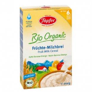 Töpfer Bio Früchte Milchbrei, Apfel, Banane, Orange 200 g - Gr.ab 6 Monate
