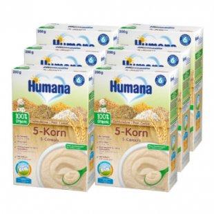 Humana Getreidebrei 5-Korn 6 x 200 g