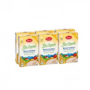 Töpfer Weizengrieß-Brei Bio mit Apfel und Banane 6 x 175 g