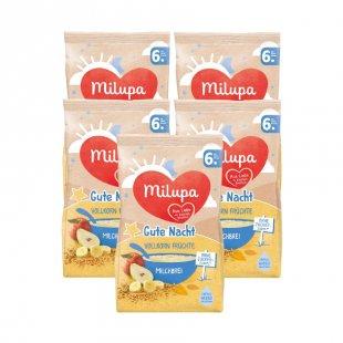 milupa Milchbrei Gute Nacht Vollkorn Früchte 5 x 400 g ab dem 6. Monat