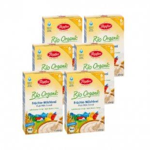 Töpfer Früchte Milchbrei Bio Apfel, Banane, Orange 6 x 200 g
