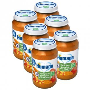 Humana Menü Tomatengemüse mit Nudeln 6 x 190 g