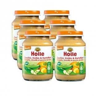Holle Bio Zucchini und Kürbis mit Kartoffeln 6 x 190 g