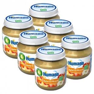 Humana Frucht Apfel und Pfirsich 6 x 125 g