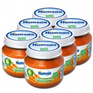 Humana Gläschen Frühkarotte 6 x 80 g - Gr.ab 4 Monate