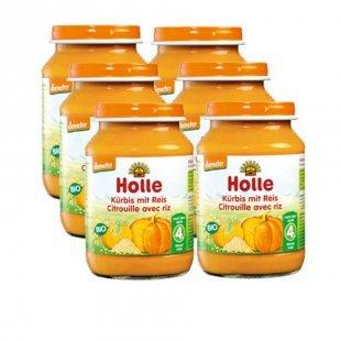 Holle Bio Kürbis mit Reis 6 x 190 g