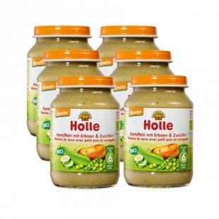 Holle Bio Kartoffeln mit Erbsen Zucchini 6 x 190 g