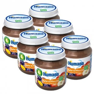 Humana Frucht Apfel und Pflaume 6 x 125 g
