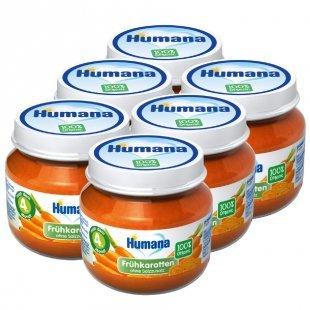 Humana Gläschen Frühkarotte 6 x 80 g