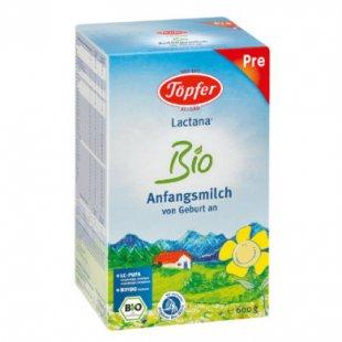 Töpfer Lactana Bio Pre Anfangsmilch 600 g - Gr.ab 0 Monate