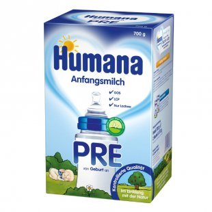 Humana Anfangsmilch PRE mit LCP & GOS 700 g