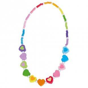BINO Halskette Regenbogen, Herz