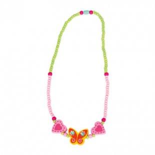 Bino Halskette Schmetterling, gelb