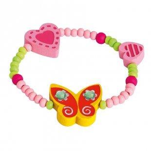 Bino Armband Schmetterling, gelb