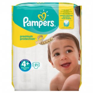 Pampers Windeln Premium Protection Gr. 4+ Maxi Plus 10 - 15 kg 21 Stück