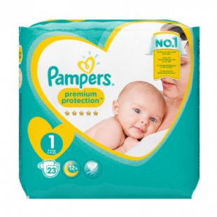 Pampers Windeln Premium Protection New Baby Gr.1 Newborn 2-5kg Tragepack 23 Stück
