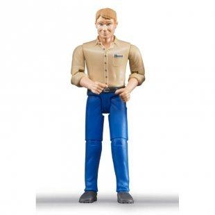 bruder® Zubehör - Mann mit hellem Hauttyp und blauer Hose 60006