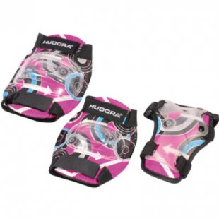 Hudora ® Protektoren Set Pink Style, Gr. S 83343