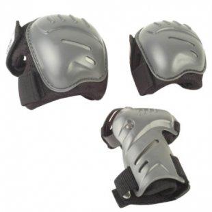 Hudora ® Biomechanisches Protektorenset, Gr. L, schwarz/grau 83031/01