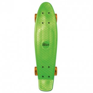 Authentic Sports Skateboard fun, No Rules, grün-transparent-orange
