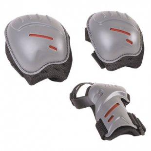 Hudora ® Biomechanisches Protektorenset joey, Gr. M, schwarz/grau 83162/01