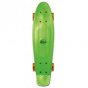 AUTHENTIC SPORTS Skateboard fun, No Rules, grün-transparent-orange