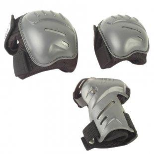 HUDORA® Biomechanisches Protektorenset, Gr. L, schwarz/grau 83031/01