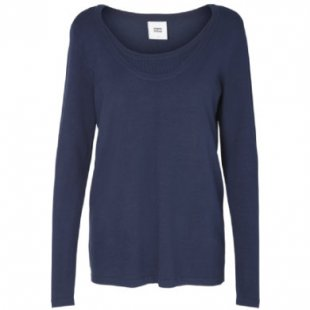 mama licious Stillshirt MLMYNA Medival Blue Melange - blau - Damen