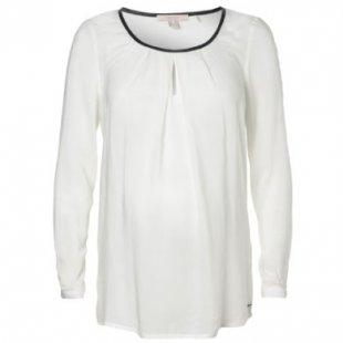Esprit Umstands Bluse vanilla white - beige - Gr.42 - Damen