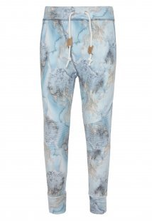 Sweathose - Alloverprint Blau
