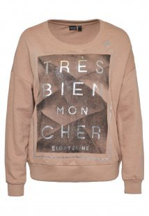 Sweatshirt mit Glamour Prints