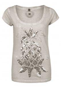 Ananas Pailletten T-Shirt