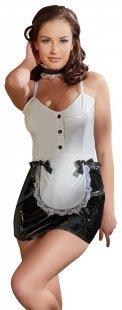Minikleid plus Halsband aus Lack, im Hausmädchen-Look