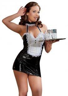 Dienstmädchen-Lackkleid