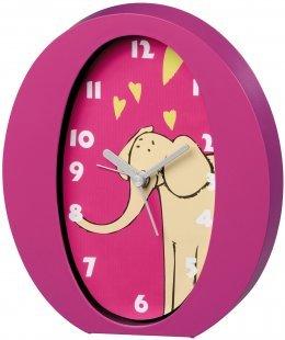 Kinderwecker Elefant pink