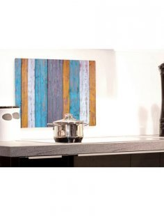 Küchenrückwand »pop«, Holzplanken, 59x41 cm