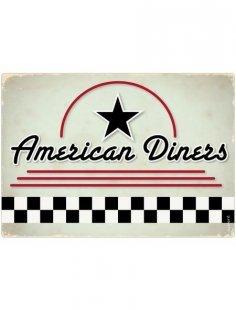 Spritzschutz »pop«, American Diners, 59x41 cm