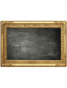 Küchenrückwand »memo to go«, Frame barock gold, 70,5x49 cm