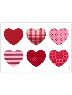 Spritzschutz »pop«, Patchwork Hearts, 59x41 cm
