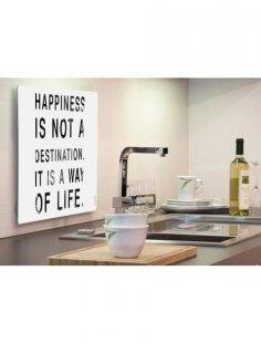 Küchenrückwand »pop«, Happiness, 59x41 cm