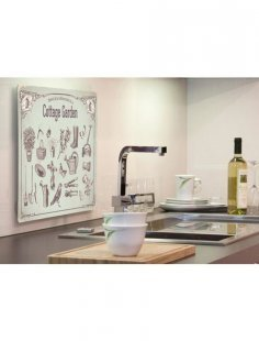 Küchenrückwand »pop«, cottage garden, 59x41 cm