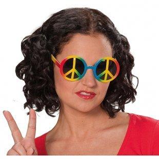 Rubies - Kostümzubehör, Peace Brille, Bunt