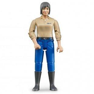 Bruder - Frau mit hellem Hauttyp und blauer Hose