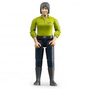 Bruder - Frau mit hellem Hauttyp und dunkelblauer Hose