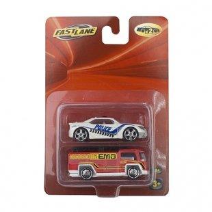 Fast Lane - 2er Pack Autos, sortiert