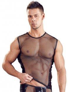 Shirt aus Netz und Wetlook