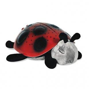 Cloud B - Twilight Ladybug: Nachtlicht- und Beruhigungsfigur Marienkäfer, rot
