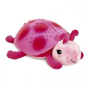Cloud B - Twilight Ladybug: Nachtlicht- und Beruhigungsfigur Marienkäfer, pink